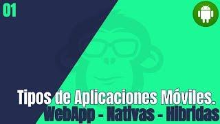 Tipos de Aplicaciones Móviles : WebApp - Nativas - Hibridas