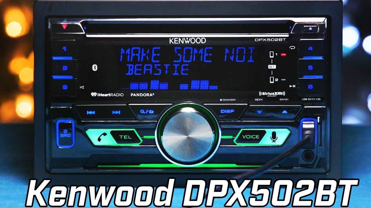 kenwood dpx502bt double din stereo overview youtube