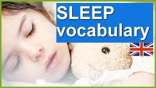 English vocabulary lesson - SLEEP