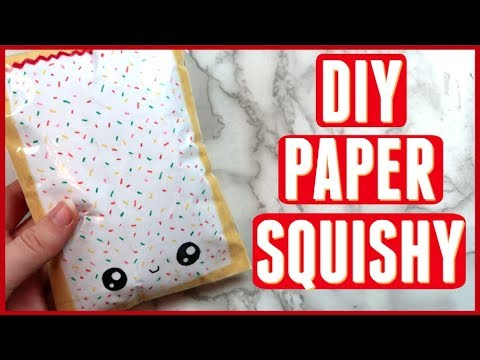 DIY Paper Squishy WITHOUT FOAM OR PAINT! Best way to make a paper squishy!