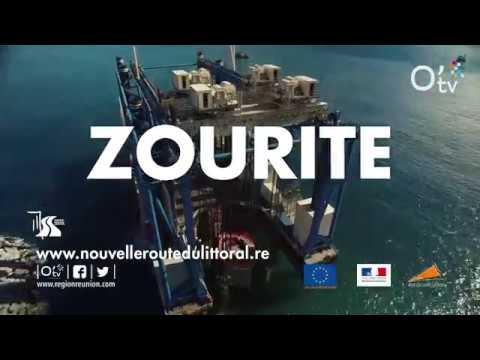Nouvelle Route du Littoral : l'incroyable Méga barge Zourite