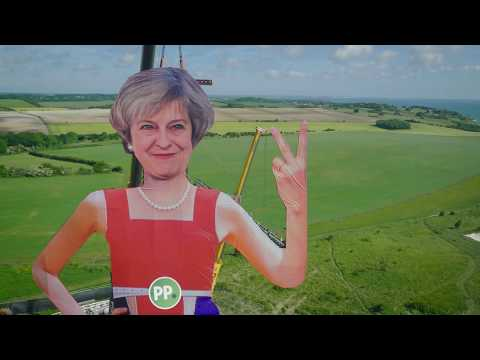 Screw EU! Paddy Power erect 110 foot tall Theresa May statue
