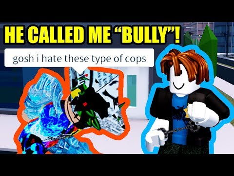 I ARRESTED HIM... then he TRIED TO GET ME BANNED! | Roblox Jailbreak