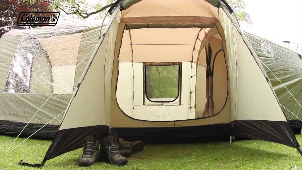 Coleman 174 Mackenzie Cabin 6l Family Camping Tent Youtube