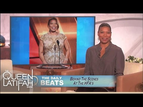 Daily Beats: Backstage at the HFA's | The Queen Latifah Show