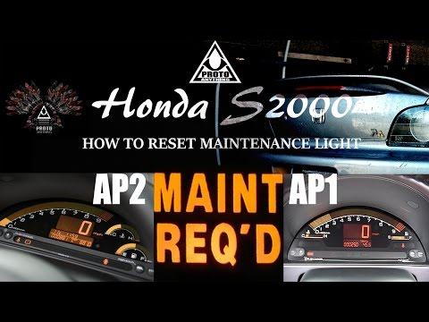 s2000 HOW TO RESET MAINTENANCE LIGHT S2K AP1-AP2 (1080p hd)