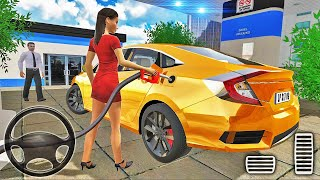 Honda Civic Car Simulator - City Car Driving - Android Gameplay