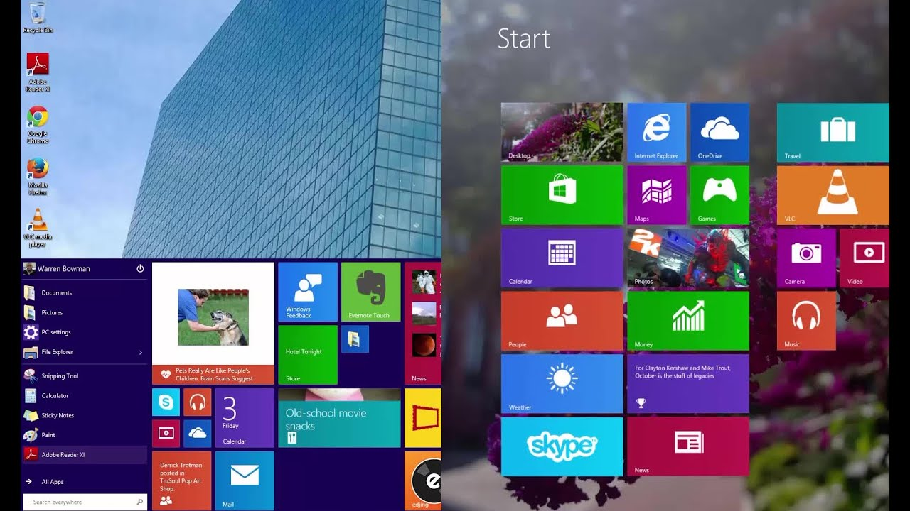 How To Switch Between The Start Menu and Start Screen In Windows ...