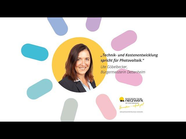 Photovoltaik Botschafter - Bürgermeisterin Göbelbecker