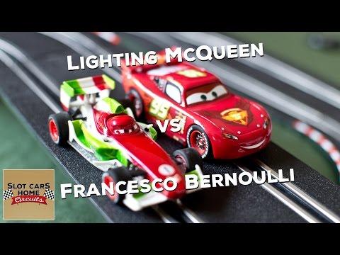 Lighting McQueen & Francesco Bernoulli Slot CARS Disney Pixar Carrera GO Neon Track