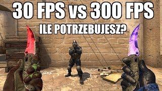 30 FPS vs 300 FPS - Ile FPS'ów w CS:GO Potrzeba aby mieć LEPSZY AIM na 144Hz?