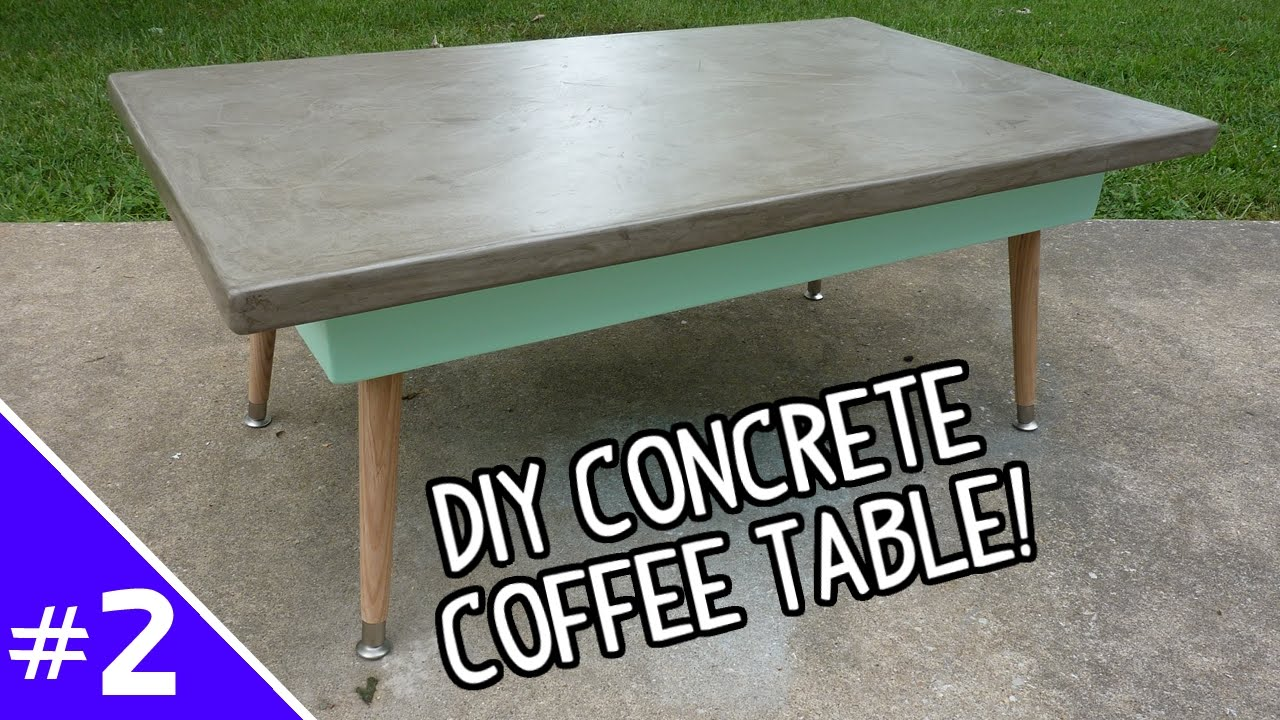 Diy Ardex Concrete Coffee Table Part 2 Of 2 Youtube