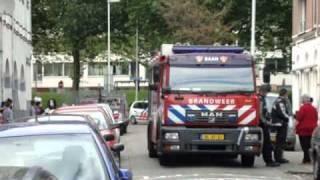 Prio 1 TS23-1 TS44-1 AL44-1 Wijkteam politie Gebouwbrand Cronjéstraat Rotterdam