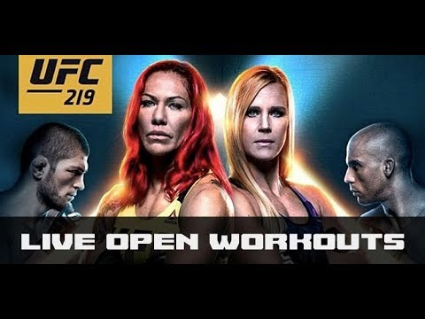 UFC 219 Holly Holm, Cris Cyborg Workouts
