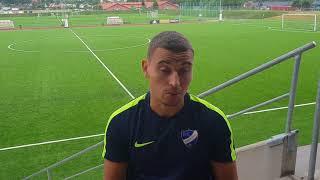 Jordan Larsson har också spelat med U21-landslaget och gjorde sitt första pass på CGA.