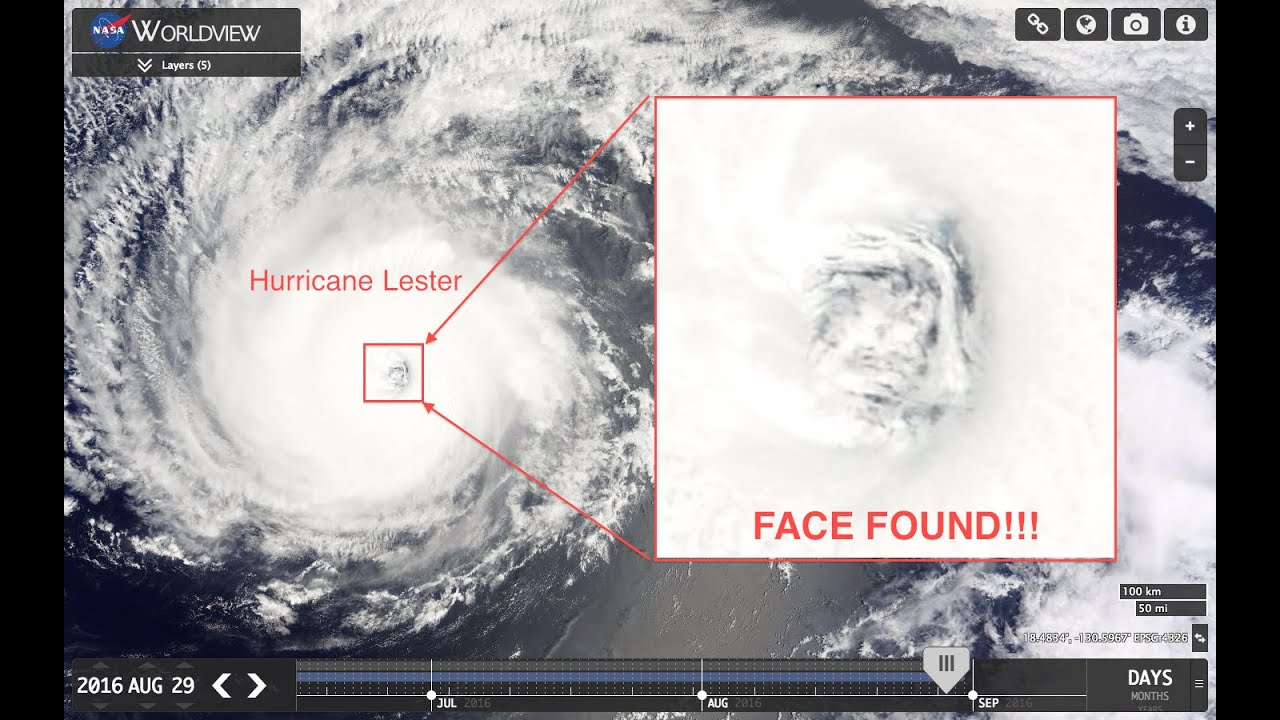 Face Found Inside Hawaii Hurricane Lester 2016 100 Real