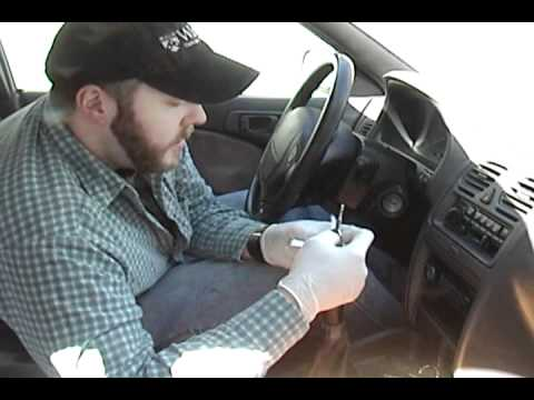 1995 Subaru Legacy ignition lock replacement - YouTube