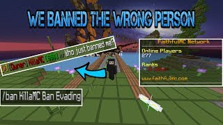 (ADMIN SERIES) WE ACCIDENTALLY BANNED THE WRONG PERSON?! - FaithfulMC 8.0 Staff Series