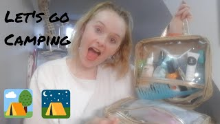 PACK WITH ME TOILETRIES & MAKE-UP FOR CAMPING