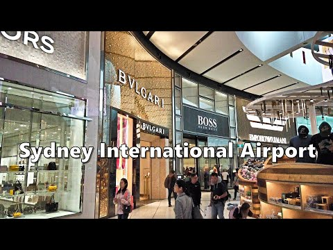 SYDNEY INTERNATIONAL AIRPORT Departure Terminal Tour - KINGSFORD SMITH AIRPORT Sydney Australia