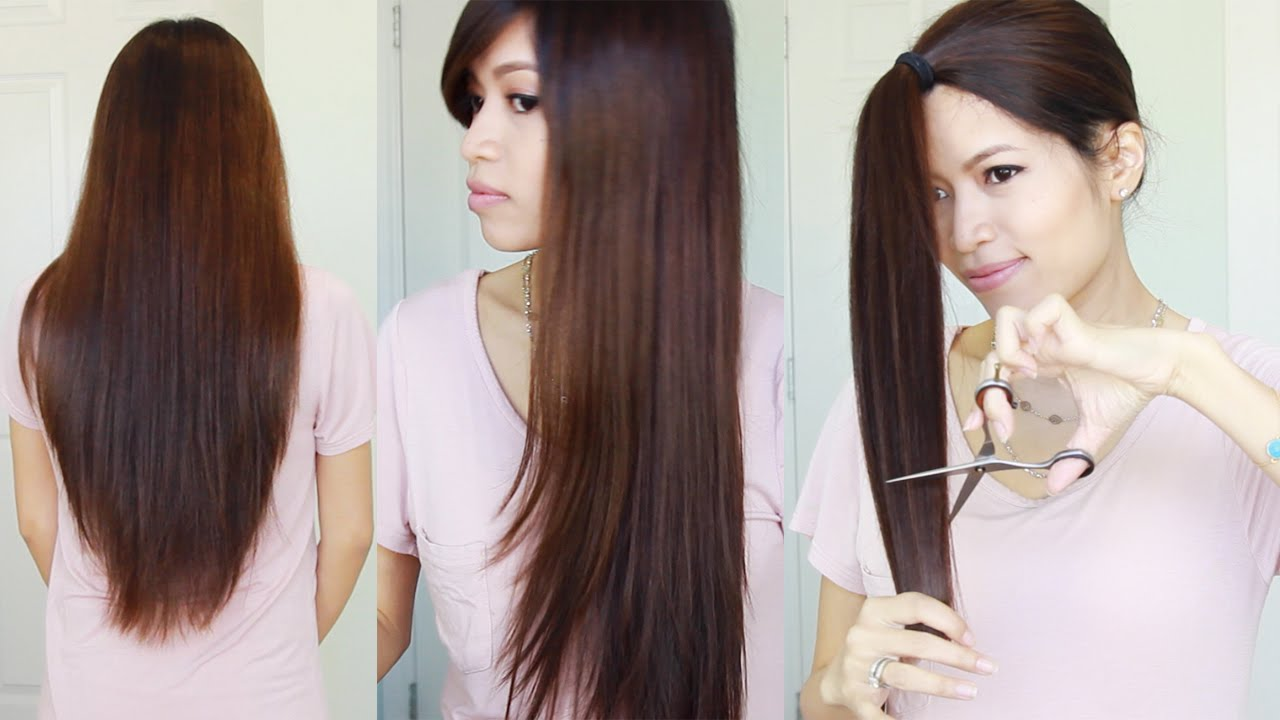 Attractive The Best Hair Hack ♥ How To Cut U0026 Layer Your Hair At Home   YouTube