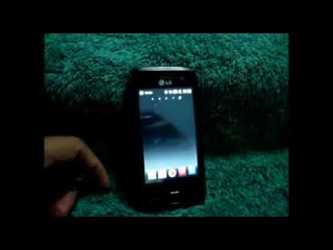 Uso de LG GM750 youtube, maps