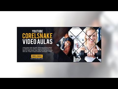 CURSO COREL DRAW // COMO CRIAR CAPA PARA FACEBOOK ( COREL SNAKE )