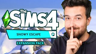 I have a secret about The Sims 4 Snowy Escape... (shhh)
