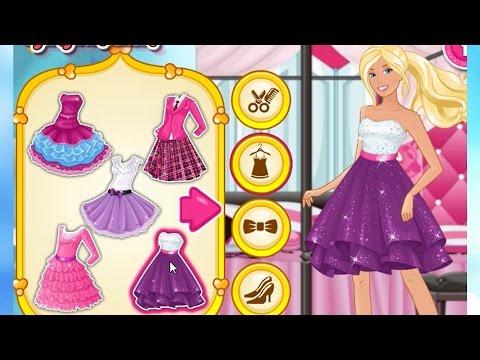 СМОТРЕТЬ БАРБИ ОДЕВАЕТСЯ НА ВСТРЕЧУ К КЕНУ. Видео для девочек. Одевалки. Игры для девочек
