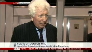Tom Baker talks about Doctor Who 50th Anniversary (BBC News, 23.11.13)