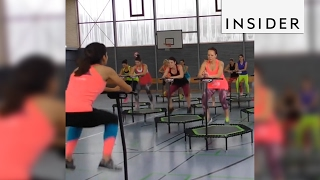Trampoline workout classes are the latest fitness craze