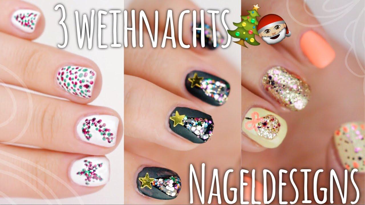 3 schöne & easy WEIHNACHTS-Nageldesigns - #BEEcember2 ❄ | Dagi Bee ...