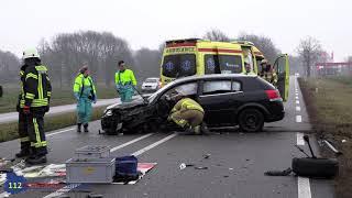 Meerdere gewonden bij ongeval Kottenseweg N319 Winterswijk