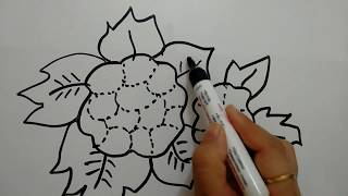 How to draw Cauliflower