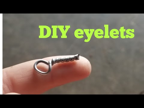 How to make eyelets for lure making