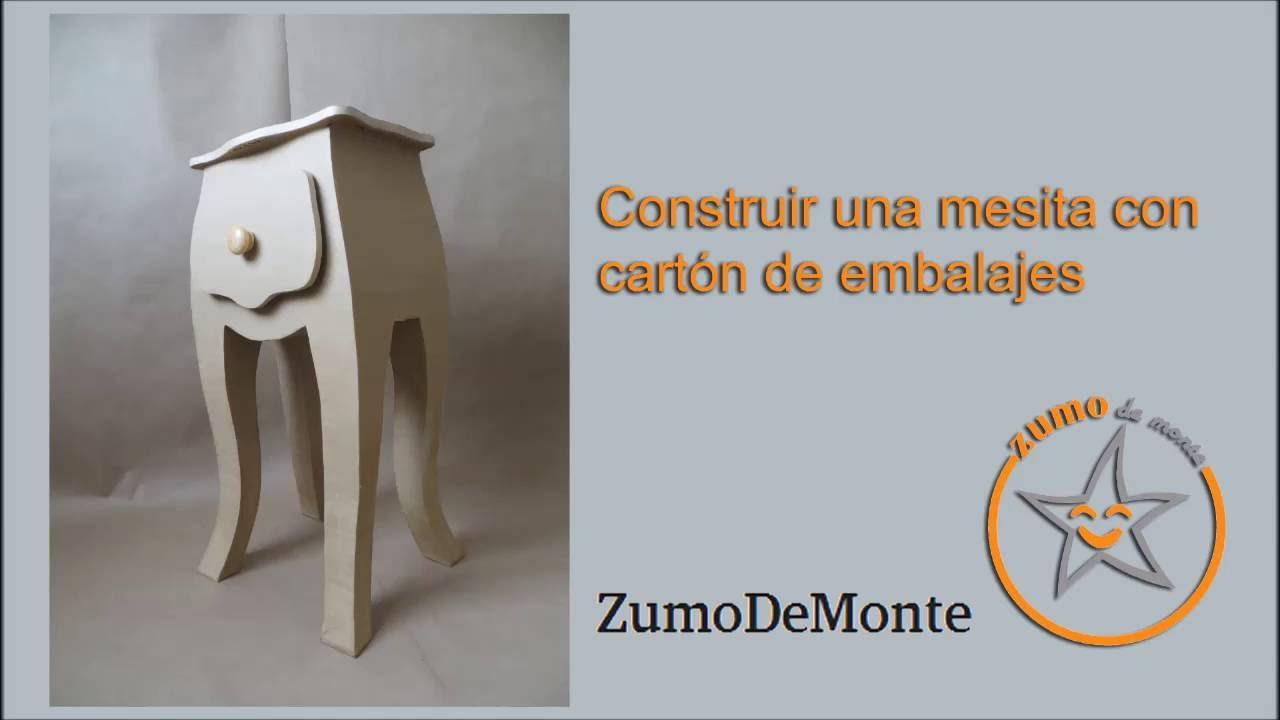 Como construir un mueble con carton !!!! - YouTube