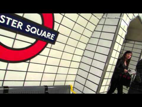 Walking around Leicester Square Tube Station in London