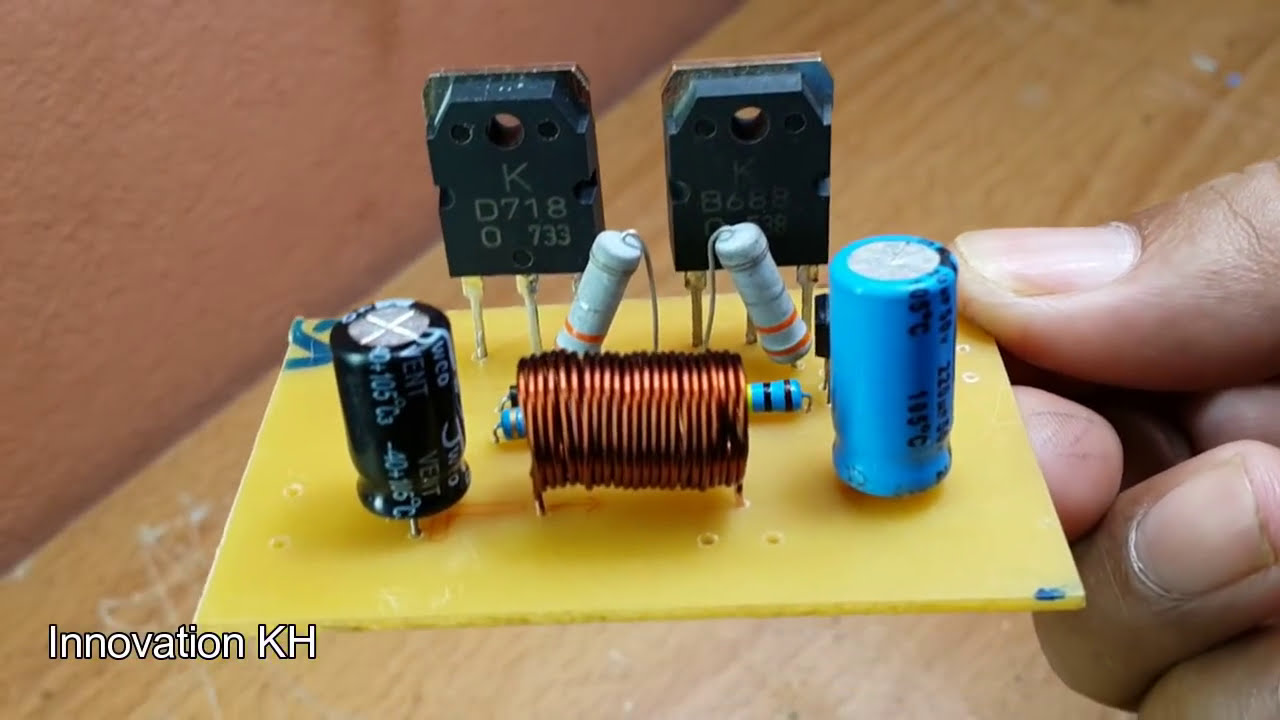 How To Make 12v Amplifier Used 3 Transistors D718 And B688 And 2n3904 50w   Innovation Kh 10:20 HD