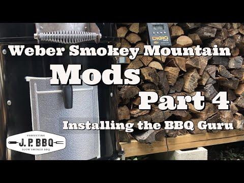 Weber Smokey Mountain Part 4 Installing the BBQ Guru