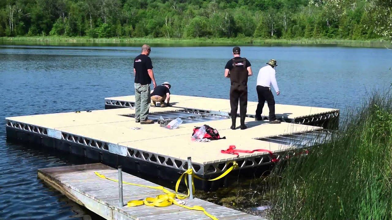 Canadadocks 24x24 floating dock installation youtube solutioingenieria Gallery