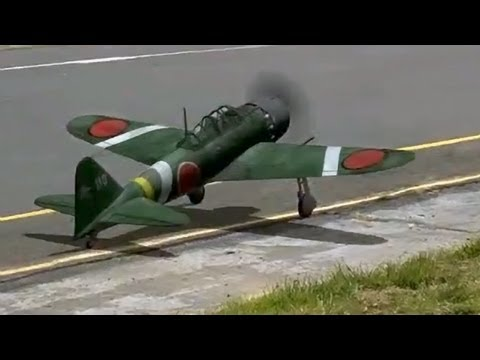 A6M Zero Mitsubishi R/C Airplane (Realflight RC Simulator)