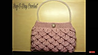 Repeat youtube video Crochet How To #Crochet crocodile stitch clutch purse Tutorial #5 LEARN CROCHET