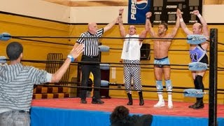 """Robbie E and CW Anderson in the """"Wrestling for the Warriors"""" Main Event - USIWF Nov. 3, 2012"""