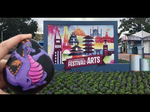 EPCOT Festival of the Arts 2018 | First Time on the Frozen Ride | Painting and hiding a Disney rock