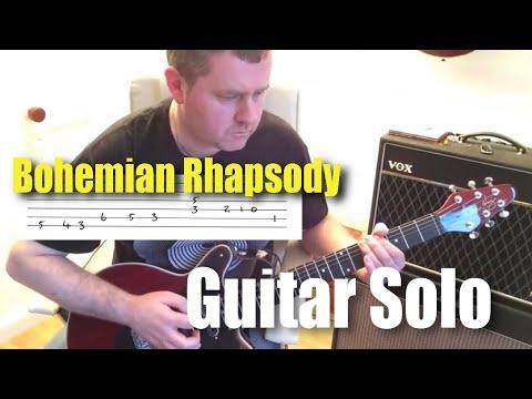 Queen Bohemian Rhapsody Guitar Solo With Guitar Tab Notes