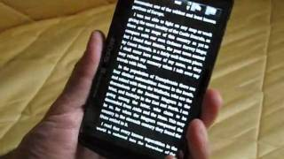 Ebook reading on the Archos Android Tablet