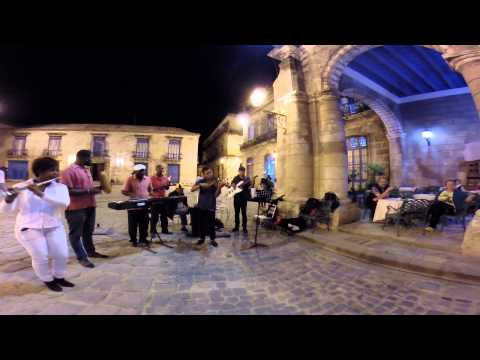 Music in Old Havana Cathedral Square, Cuba
