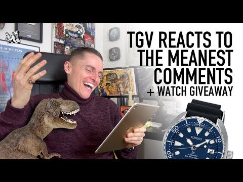 TGV Reacts To Meanest YouTube Comments + Seiko Baby Turtle Giveaway
