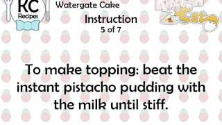 Watergate Cake - Kitchen Cat