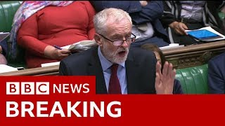 Labour leader Jeremy Corbyn: 'Rehashed version' of May's deal - BBC News